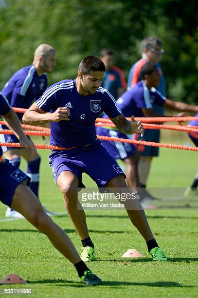 Mitrovic Aleksandar forward of Rsc Anderlecht pictured during the training session of RSC Anderlecht at the Irene Sportcomplex in Tegelen on juli 10...