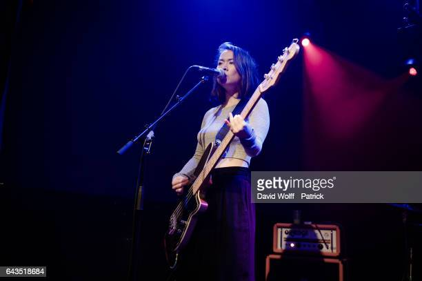Mitski performs at Les Etoiles on February 21 2017 in Paris France