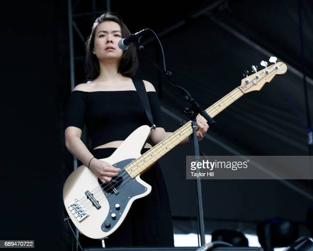 Mitski performs at the 2017 Boston Calling Music Festival at Harvard Athletic Complex on May 28 2017 in Boston Massachusetts