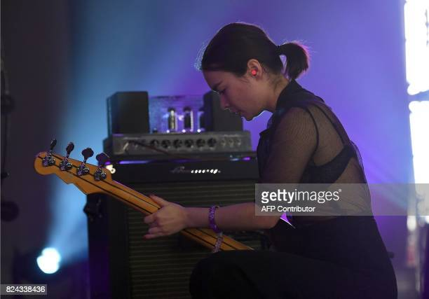 Mitski performs at the 2017 Panorama Music Festival on Randall's Island in New York on July 29 2017 / AFP PHOTO / ANGELA WEISS