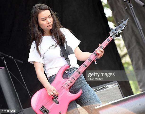 Mitski performs during day 1 of the 3rd Annual Shaky Knees Music Festival at Atlanta Central Park on May 8 2015 in Atlanta City
