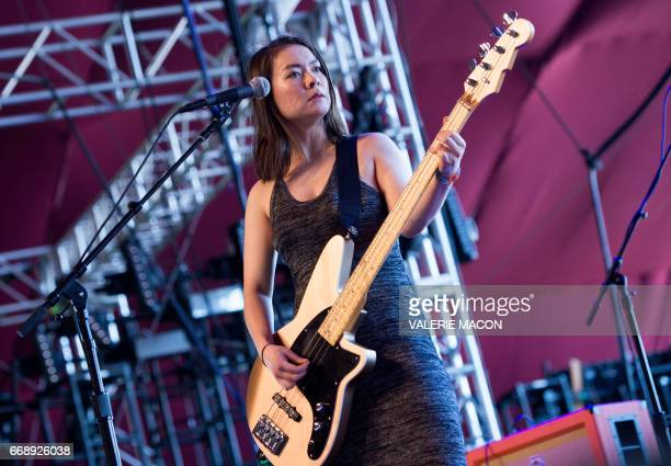 Mitski Performs in Coachella Valley Music And Arts Festival on April 15 2017 in Indio California / AFP PHOTO / VALERIE MACON