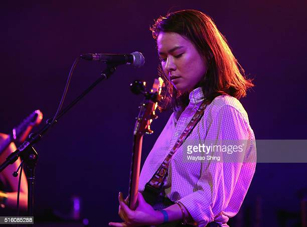 Mitski performs onstage at NPR Music during the 2016 SXSW Music Film Interactive Festival at Stubbs on March 16 2016 in Austin Texas