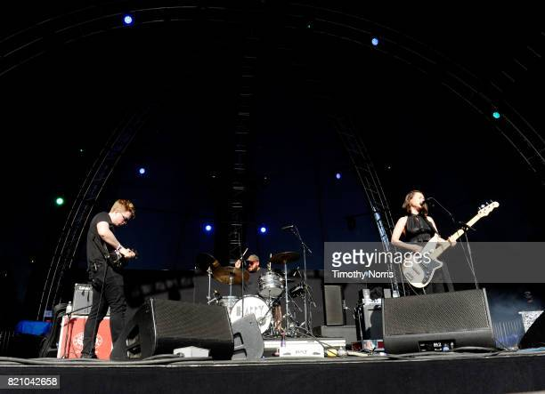 Mitski performs onstage during day 2 of FYF Fest 2017 at Exposition Park on July 22 2017 in Los Angeles California