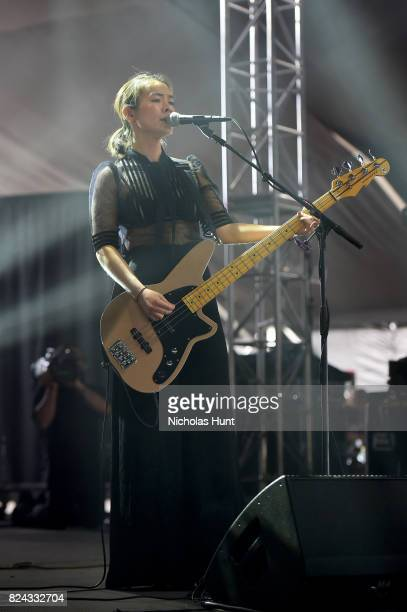 Mitski performs onstage during the 2017 Panorama Music Festival Day 2 at Randall's Island on July 29 2017 in New York City