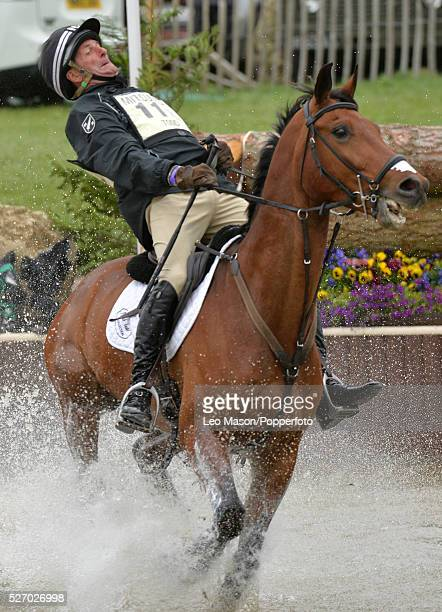 Mitsubish FEI Classic Series 3 dayeventing Badminton horse Trials at Badminton House UK Mark Todd/Leonidas NZL The Cross Country fences at the Lake...