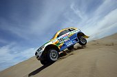 Mitsubishi driver Carlos Sousa and codriver Paulo Fiuza from Portugal compete during the Stage 9 of the Dakar 2015 between Iquique and Calama Chile...
