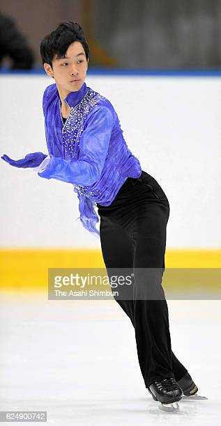 Mitsuki Sumoto competes in the Men's Singles free program during day three of the 85th All Japan Figure Skating Junior Championships at Sapporo...