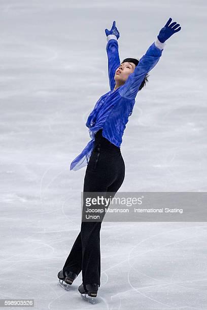 Mitsuki Sumoto of Japan competes during the junior men free skating on day three of the ISU Junior Grand Prix of Figure Skating on September 3 2016...