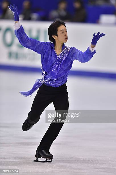 Mitsuki Sumoto of Japan competes in the Men free skating during the day two of the 2015 Japan Figure Skating Championships at the Makomanai Ice Arena...