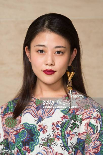 Mitsuki Takahata attends the Louis Vuitton show as part of the Paris Fashion Week Womenswear Spring/Summer 2018 at Musee du Louvre on October 3 2017...