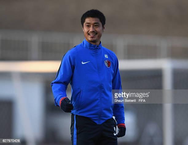 Mitsuo Ogasawara of Kashima Antlers during a training session at Mitsuzawa Athletics Stadium on December 6 2016 in Yokohama Japan