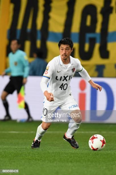 Mitsuo Ogasawara of Kashima Antlers in action during the JLeague J1 match between Vegalta Sendai and Kashima Antlers at Yurtec Stadium Sendai on...