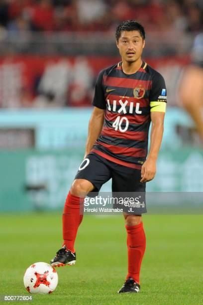 Mitsuo Ogasawara of Kashima Antlers prepares for a free kick during the JLeague J1 match between Kashima Antlers and Albirex Niigata at Kashima...