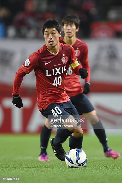 Mitsuo Ogasawara of Kashima Antlers runs with the ball during the AFC Champions League Group H match between Kashima Antlers and Western Sydney...