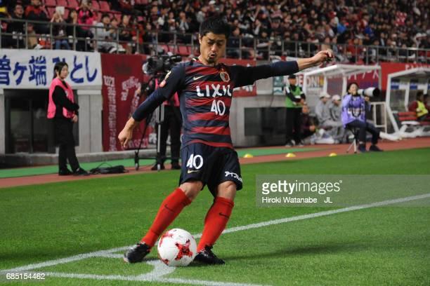 Mitsuo Ogasawara of Kashima Antlers takes a corner kick during the JLeague J1 match between Kashima Antlers and Kawasaki Frontale at Kashima Soccer...
