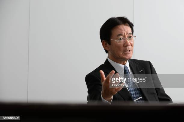 Mitsuo Sawai president of Sawai Pharmaceutical Co speaks during an interview in Tokyo Japan on Wednesday May 17 2017 Sawai Pharmaceutical which plans...
