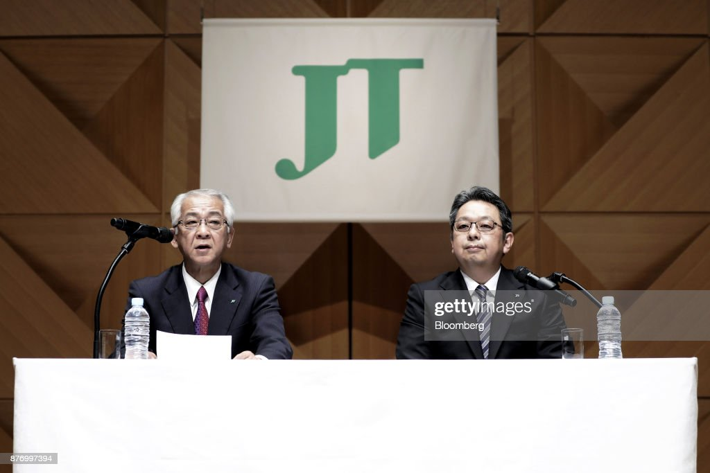 Japan Tobacco Inc. News Conference Announcing The Next CEO