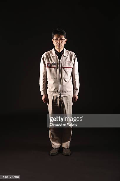 Mitsuyoshi Sato of Toshiba poses for a portrait on February 23 2016 in Okuma Japan Sato works in the team that operates the vacuumcleanerlike robots...