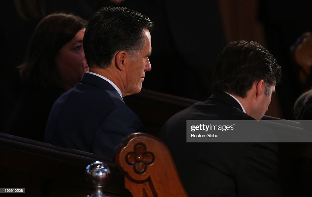 Mitt Romney attends an interfaith prayer service, 'Healing Our City,' to honor victims of the Boston Marathon bombings at the Cathedral of the Holy Cross. President Barack Obama will speak at the event.