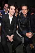 Mitte and Ellar Coltrane attend the Fendi show during the Milan Men's Fashion Week Spring/Summer 2016 on June 22 2015 in Milan Italy