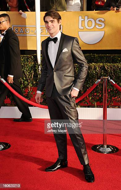 Mitte arrives at the 19th Annual Screen Actors Guild Awards at the Shrine Auditorium on January 27 2013 in Los Angeles California