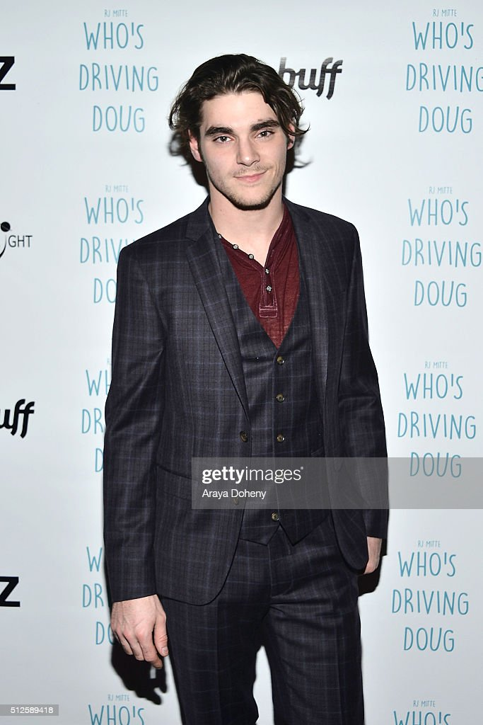 Mitte attends the premiere of FilmBuff's 'Who's Driving Doug' at Los Feliz 3 Cinemas on February 26 2016 in Los Angeles California