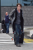 RJ Mitte is seen arriving at Malpensa Airport on June 16 2015 in Milan