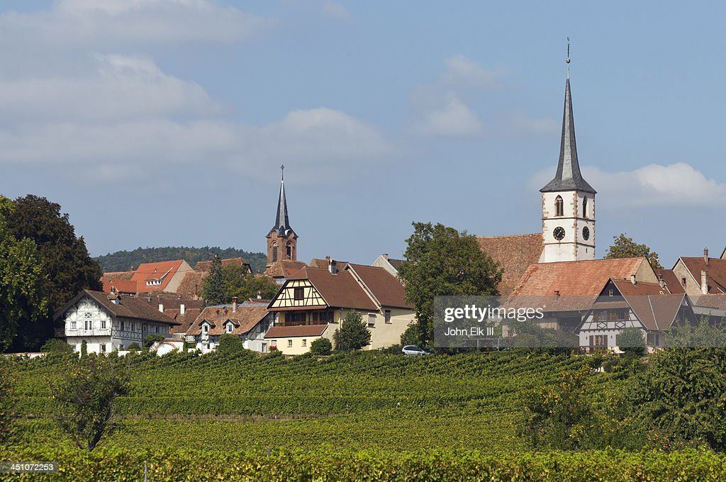 Mittelbergheim view across vineyards