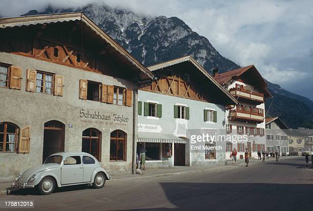 Mittenwald at the foot of the Alps in Bavaria Germany circa 1960
