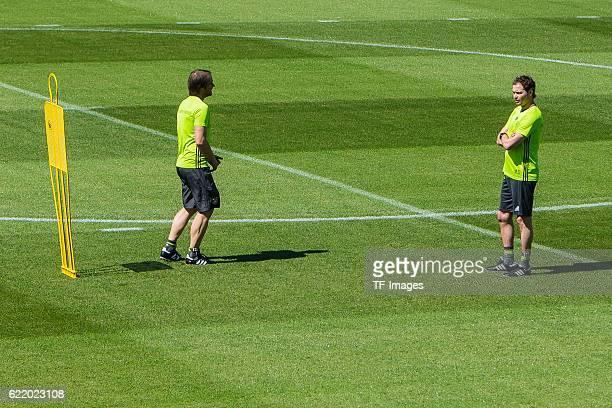 Mittwoch Trainingslager der Deutschen Nationalmannschaft in Ascona vl Assistenztrainer Thomas Schneider Assistenztrainer Marcus Sorg