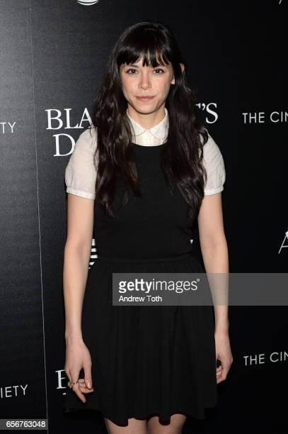 Mitzi Akaha attends a screening of 'The Blackcoat's Daughter' hosted by A24 and DirecTV with The Cinema Society at Landmark Sunshine Cinema on March...