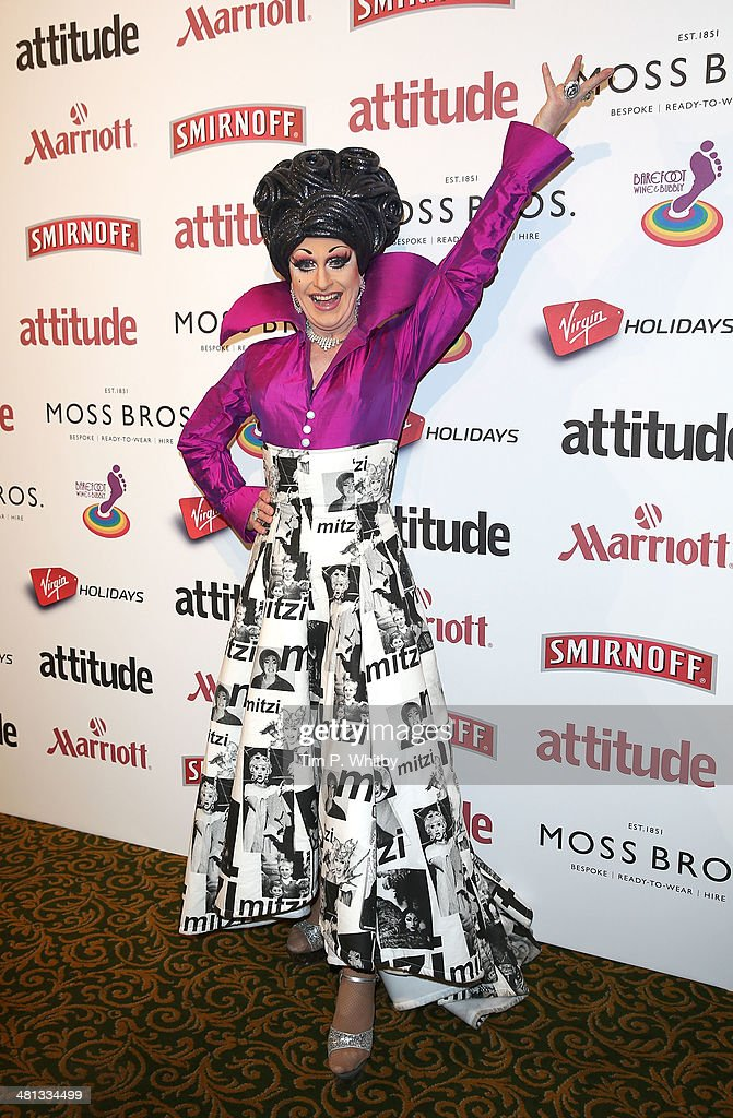 Mitzi attends the 20th birthday party of Attitude Magazine at The Grosvenor House Hotel on March 29, 2014 in London, England.