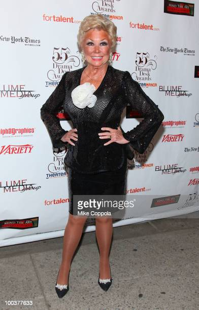 Mitzi Gaynor arrives at the 55th Annual Drama Desk Awards at the FH LaGuardia Concert Hall at Lincoln Center on May 23 2010 in New York City
