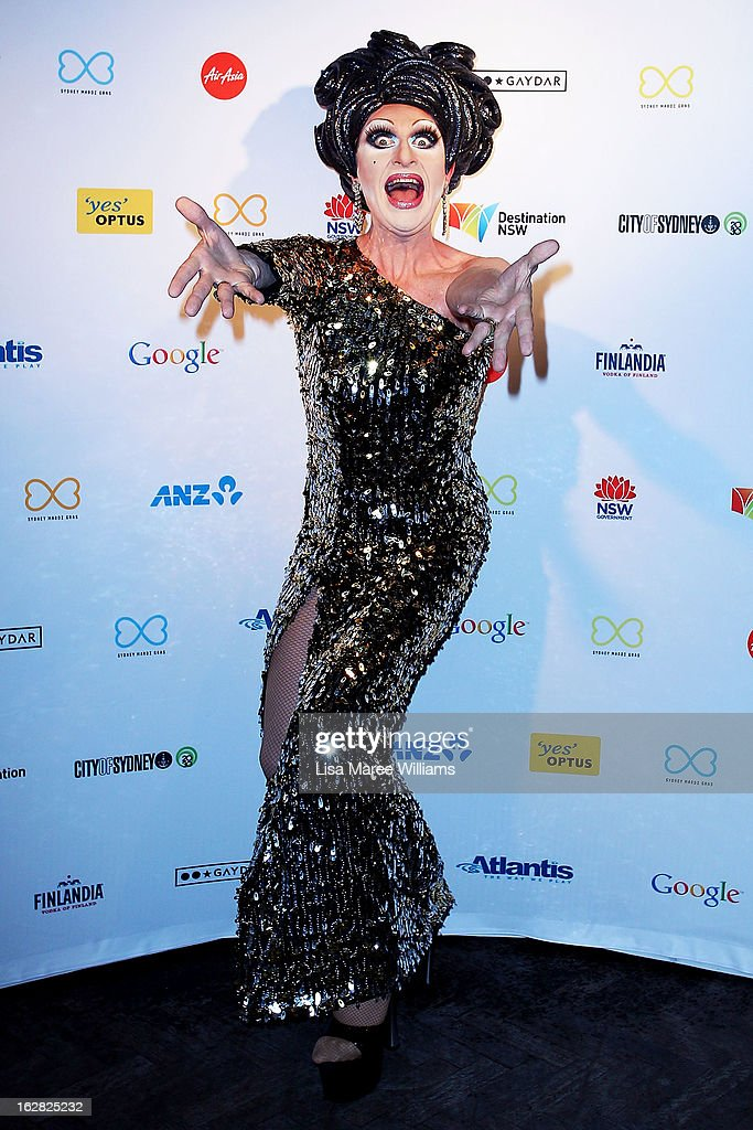 Mitzi McIntosh poses during a Sydney Mardi Gras VIP photo call at the Kit and Kaboodle Bar on February 28, 2013 in Sydney, Australia.