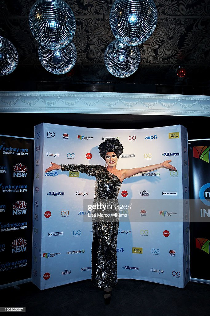 Mitzi McIntosh poses during a Sydney Mardis Gras VIP photo call at the Kit and Kaboodle Bar on February 28, 2013 in Sydney, Australia.