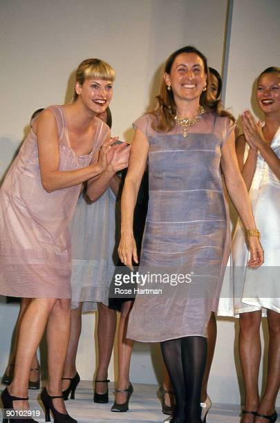 Miuccia Prada at MiuMiu Show Bryant Park New York 1993
