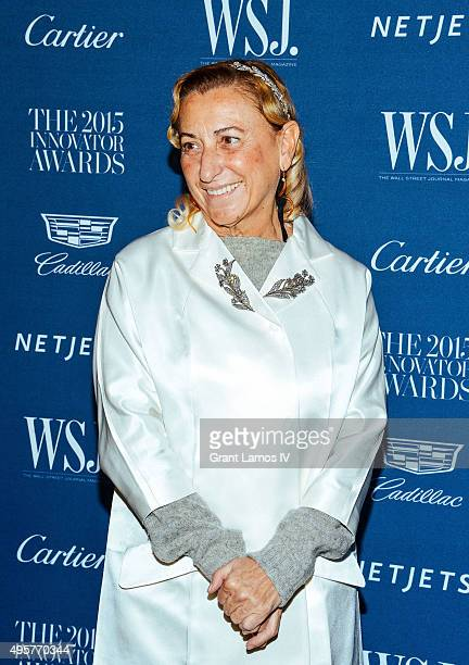 Miuccia Prada attends the 2015 WSJ Magazine Innovator Awards at Museum of Modern Art on November 4 2015 in New York City