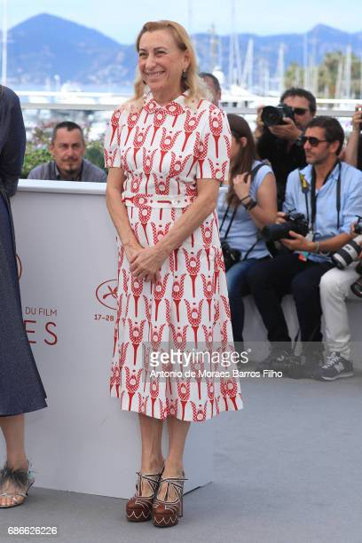 Miuccia Prada attends the 'Carne Y Arena' Photocall during the 70th annual Cannes Film Festival at Palais des Festivals on May 22 2017 in Cannes...