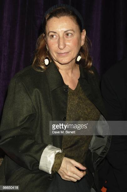Miuccia Prada attends the Miuccia Prada hosted after party following the Prada Foundation and Tate Modern Italian B Movies 'King Of The Bs' Film...