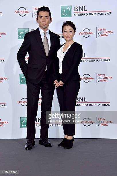 Miwa Nishikawa and Masahiro Motoki attend a photocall for 'Nagai Iiwake The Long Excuse' during the 11th Rome Film Festival on October 18 2016 in...