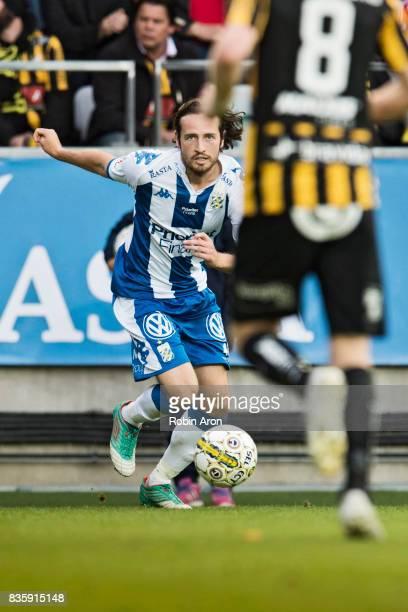 Mix Diskerud of IFK Goteborg during the Allsvenskan match between IFK Goteborg and BK Hacken at Gamla Ullevi on August 20 2017 in Gothenburg Sweden