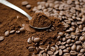 Mix kinds of coffee, ground coffee beans and roasted