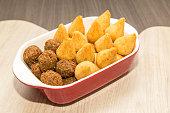 Savory brazilian fried snacks, very comon in birthday parties