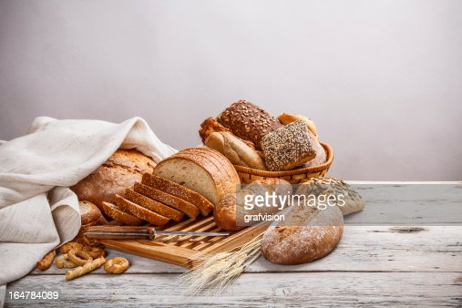 Mix of bread : Stock Photo