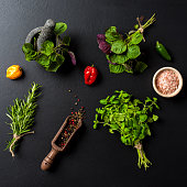 Mix of fresh herbs and spices