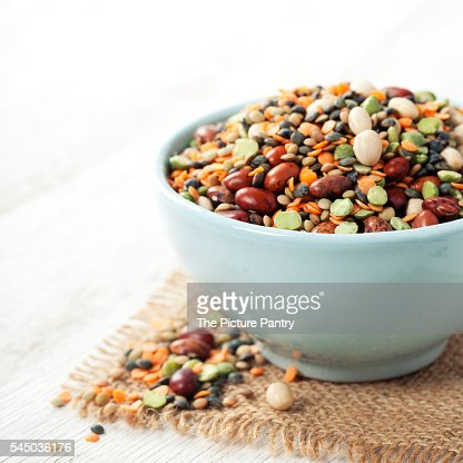 Mix of red bean, lentil, green peas and chickpeas