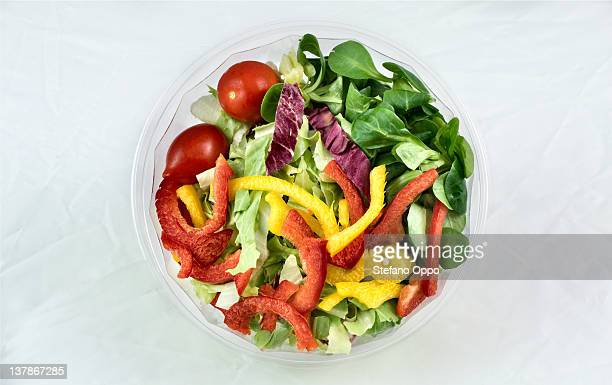 Mix salad with sweet pepper