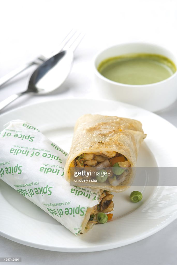 Mix Veg Rolls on a plate : Stock Photo