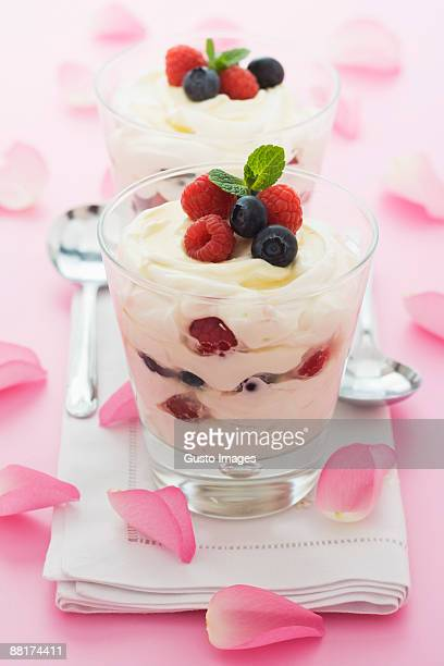 Mixed berry parfaits